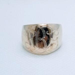 925 Ring Domed Cigar Band Ring Engrave